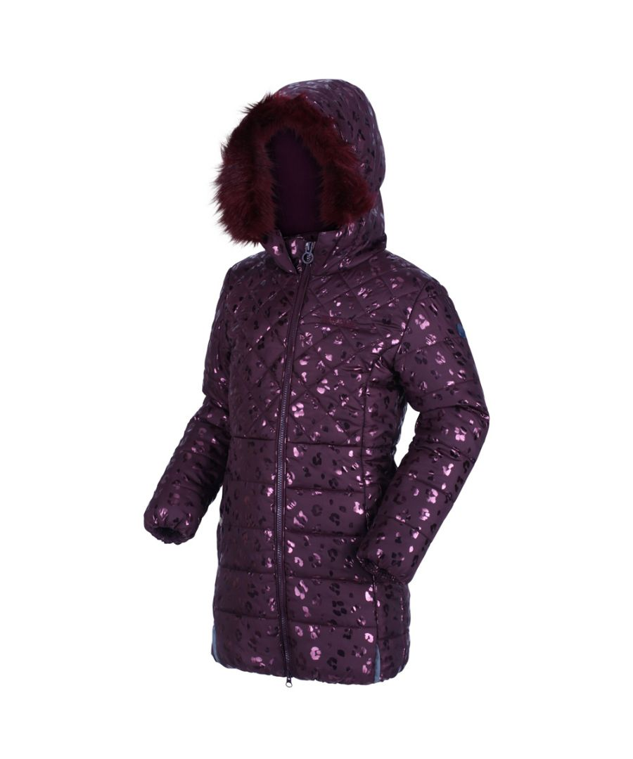 Image for Regatta Girls Bernadine Insulated Quilted Hood Parka Jacket