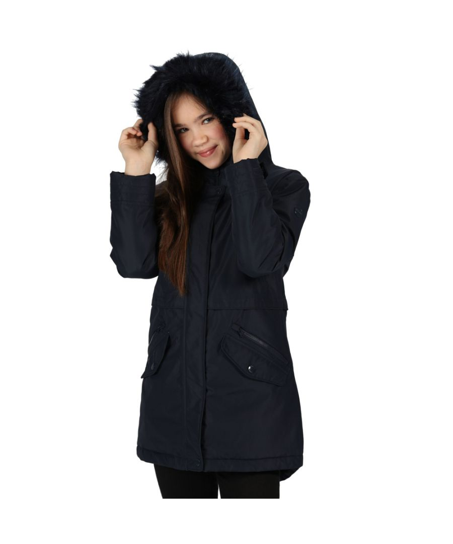 Image for Regatta Girls Honoria Parka Polyester Waterproof Jacket