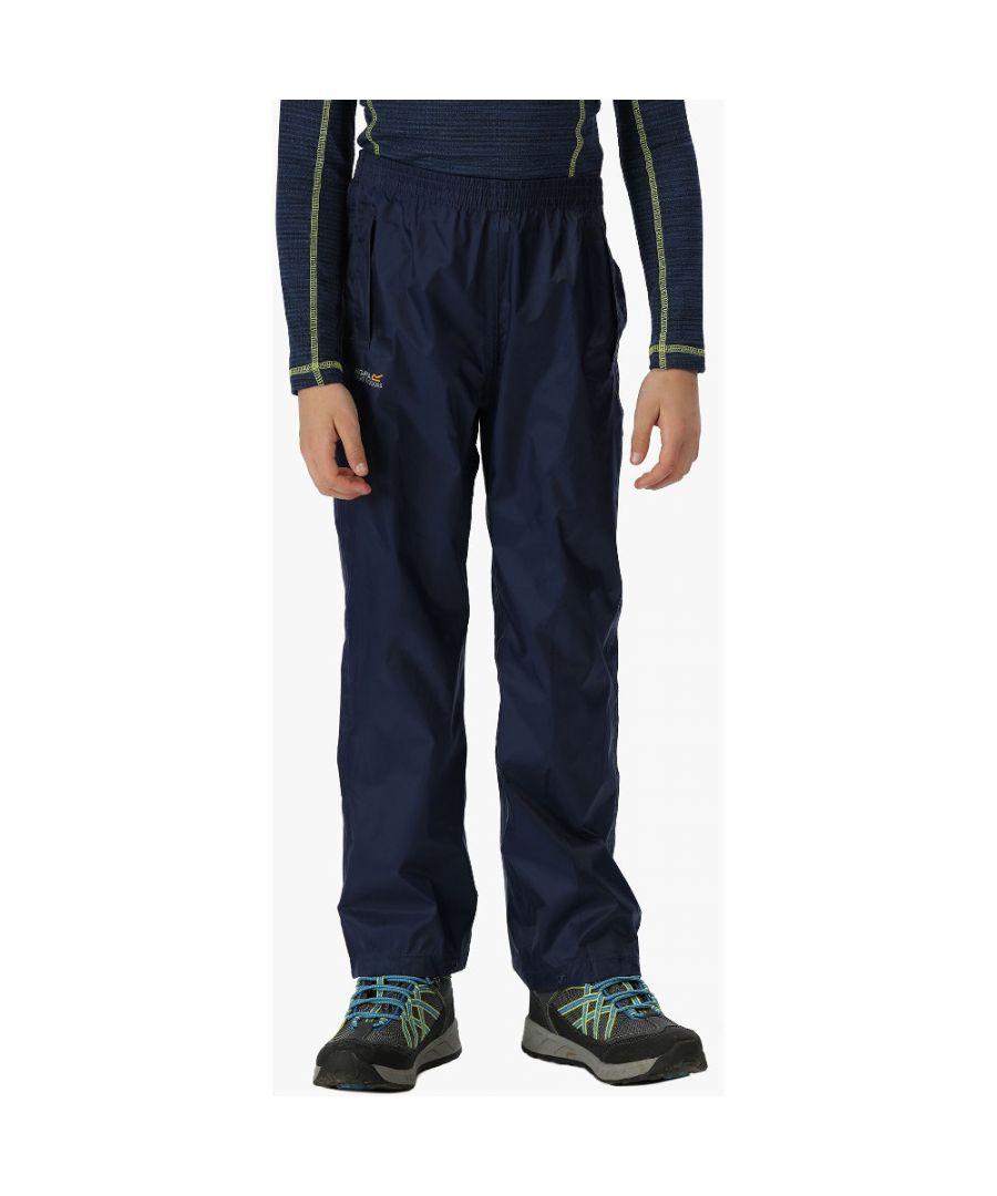 Image for Regatta Boys & Girls Kids Pack It Lightweight Waterproof Overtrousers