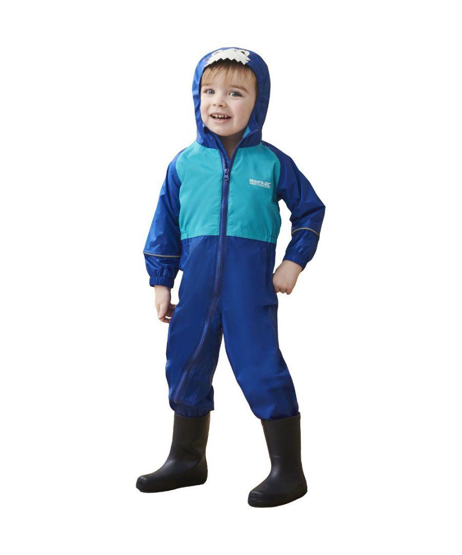 Image for Regatta Boys & Girls Charco Waterproof Breathable Kids Rainsuit