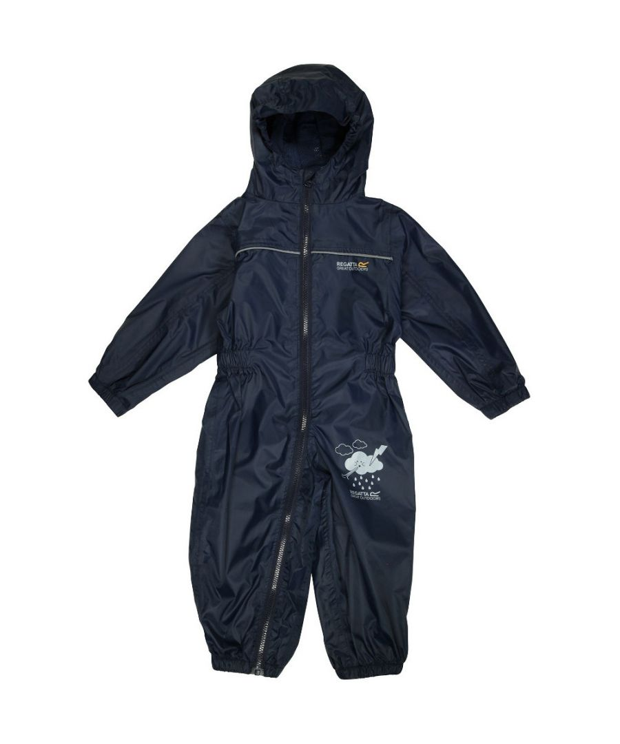 Image for Regatta Boys Puddle IV Full Zip Lightweight Waterproof Baby Bodysuit