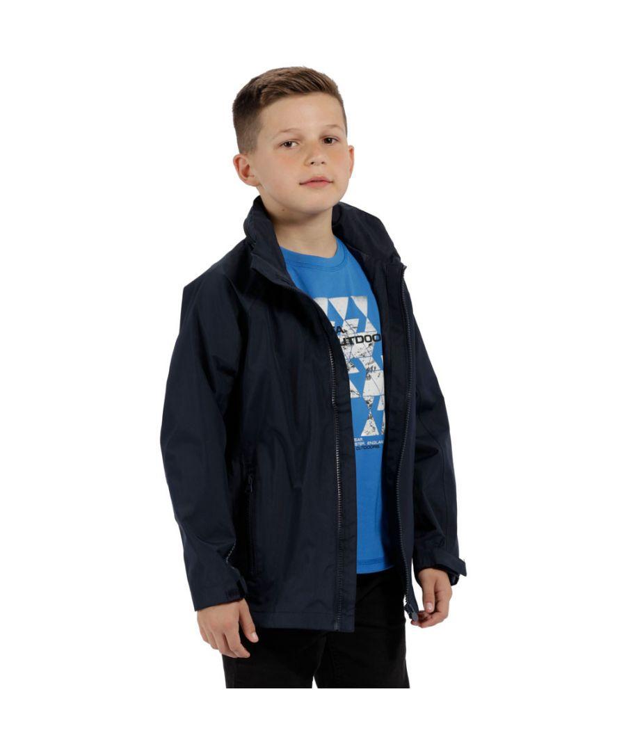 Image for Regatta Boys & Girls Gabiel Waterproof Mesh Breathable Coat Jacket