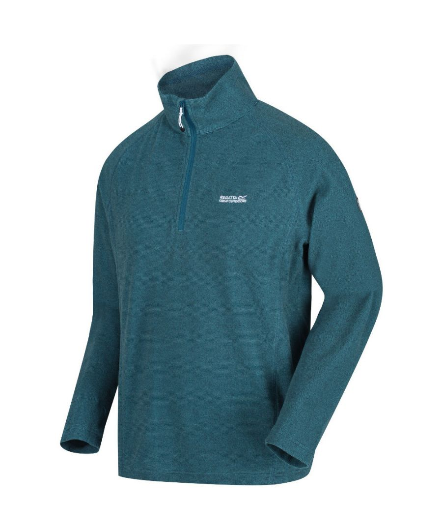 Image for Regatta Mens Montes Lightweight Half Zip Summer Fleece Top