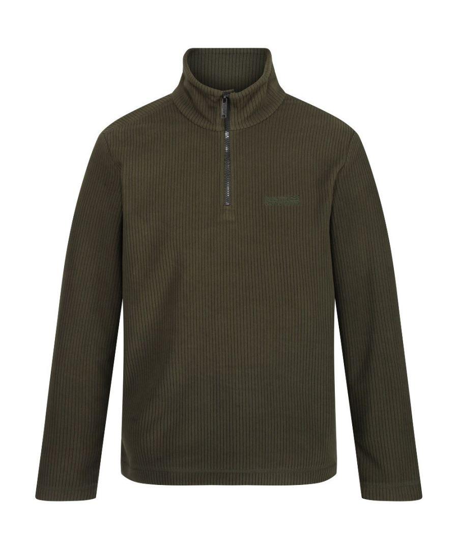 Image for Regatta Mens Elgrid Half Zip Neck Walking Fleece Top