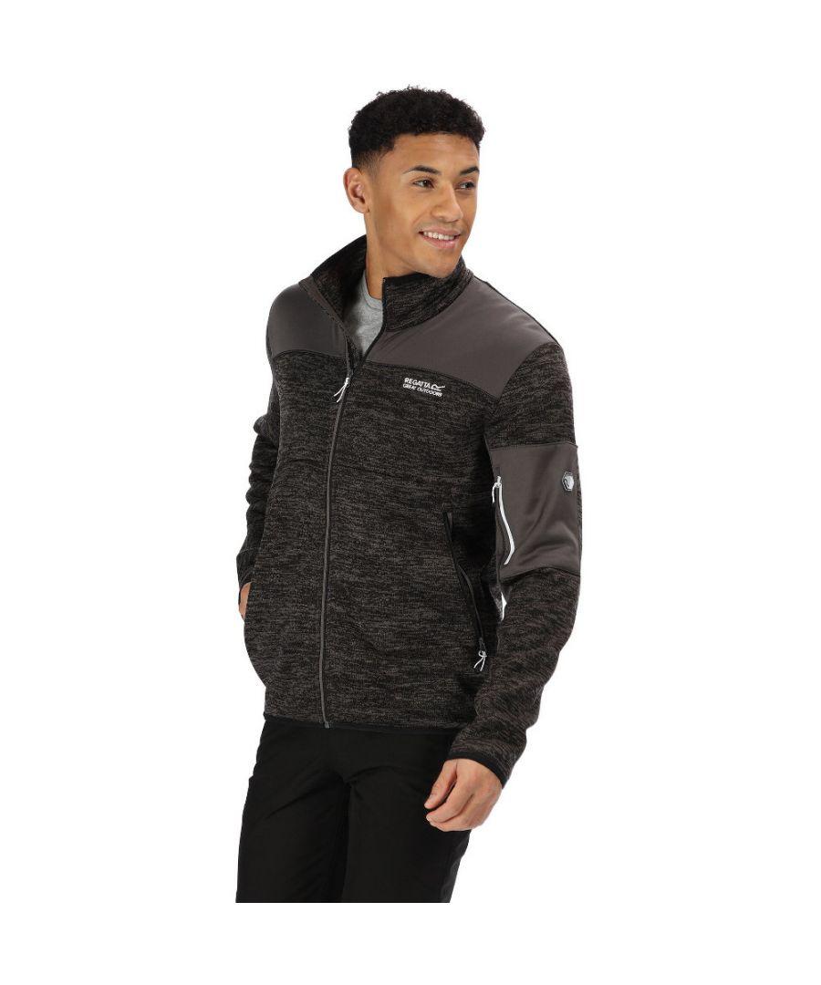 Image for Regatta Mens Collumbus VI Full Zip Marl Knit Fleece Jacket
