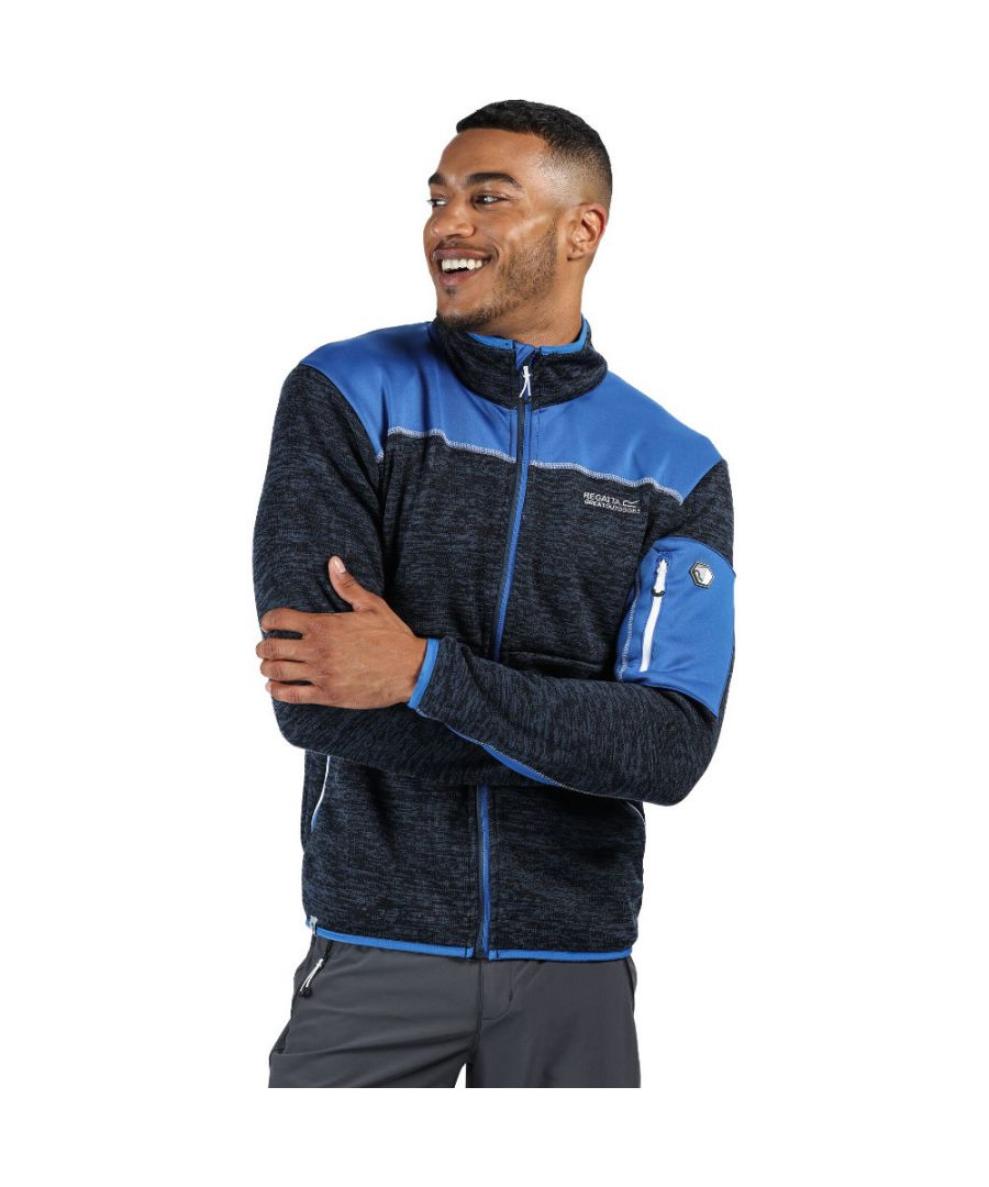 Image for Regatta Mens Collumbus VI Full Zip Marl Knit Fleece Jacket