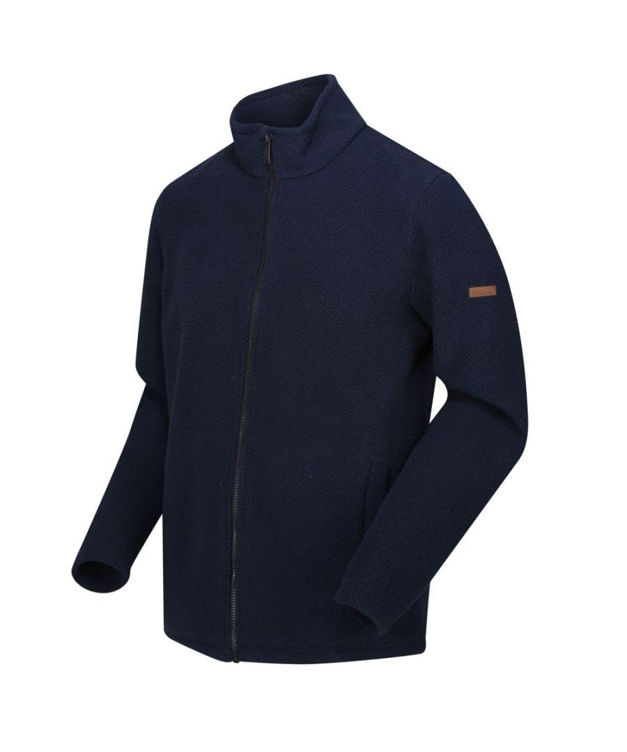 Image for Regatta Mens Esdras Full Zip Honeycom Fleece Jacket