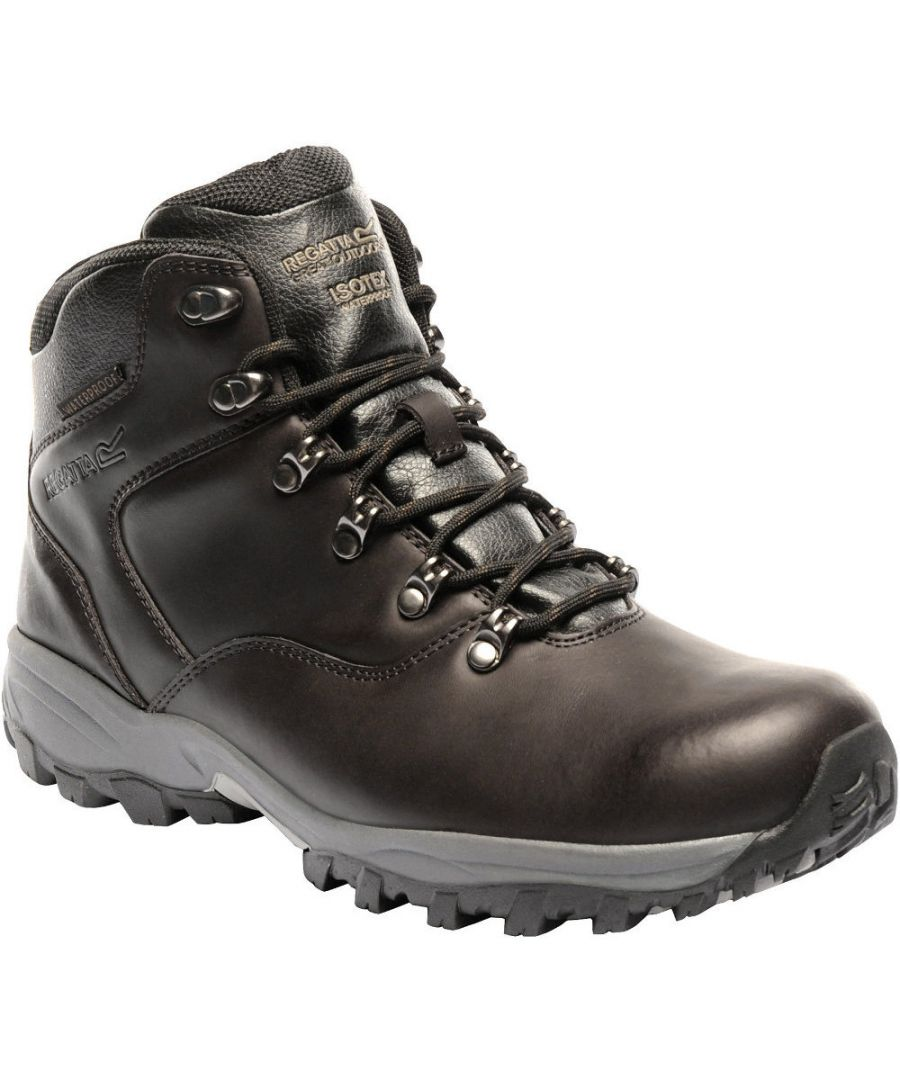 Image for Regatta Mens Bainsford Waterproof Smooth Leather Walking Boots