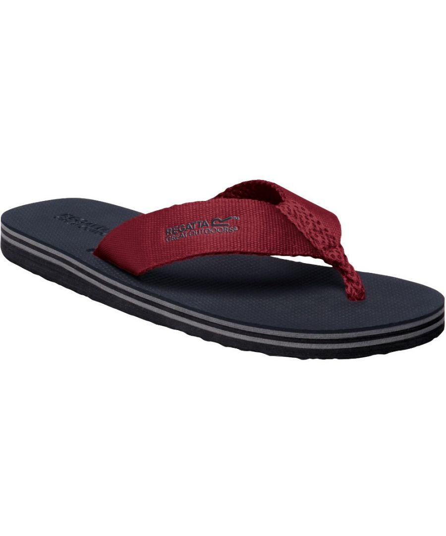 Image for Regatta Mens Rico Lightweight Cushioned Flip Flop Thong-Style Sandals
