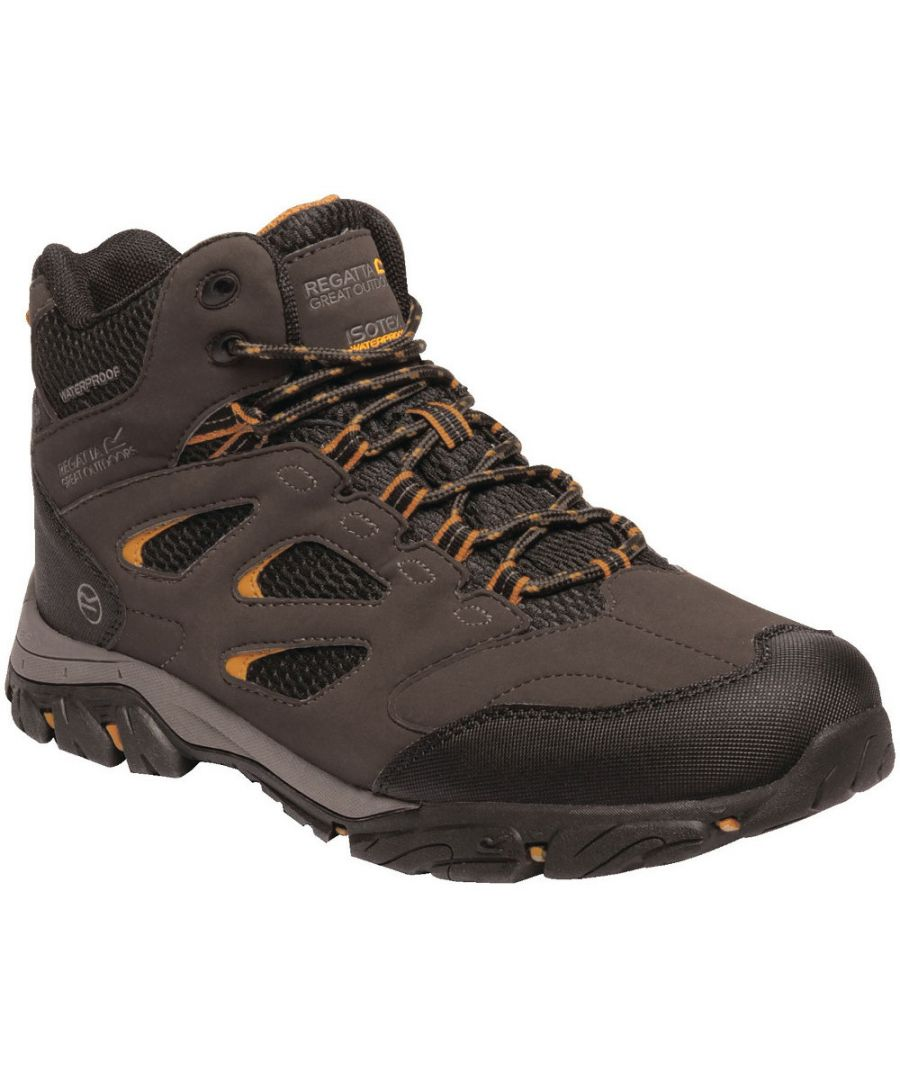 Image for Regatta Mens Holocombe IEP Mid Isotex Waterproof Fabric Walking Boots