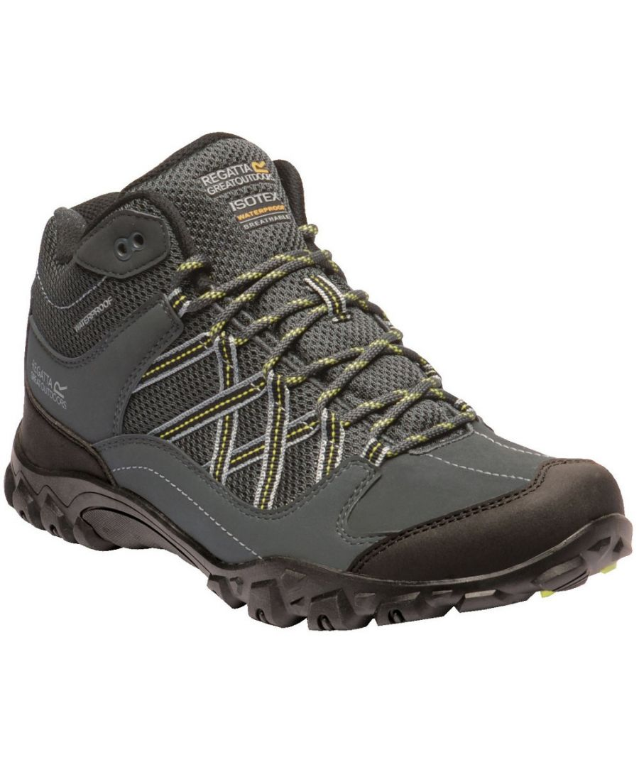 Image for Regatta Mens Edgepoint Hydropel Mid Height Walking Boots