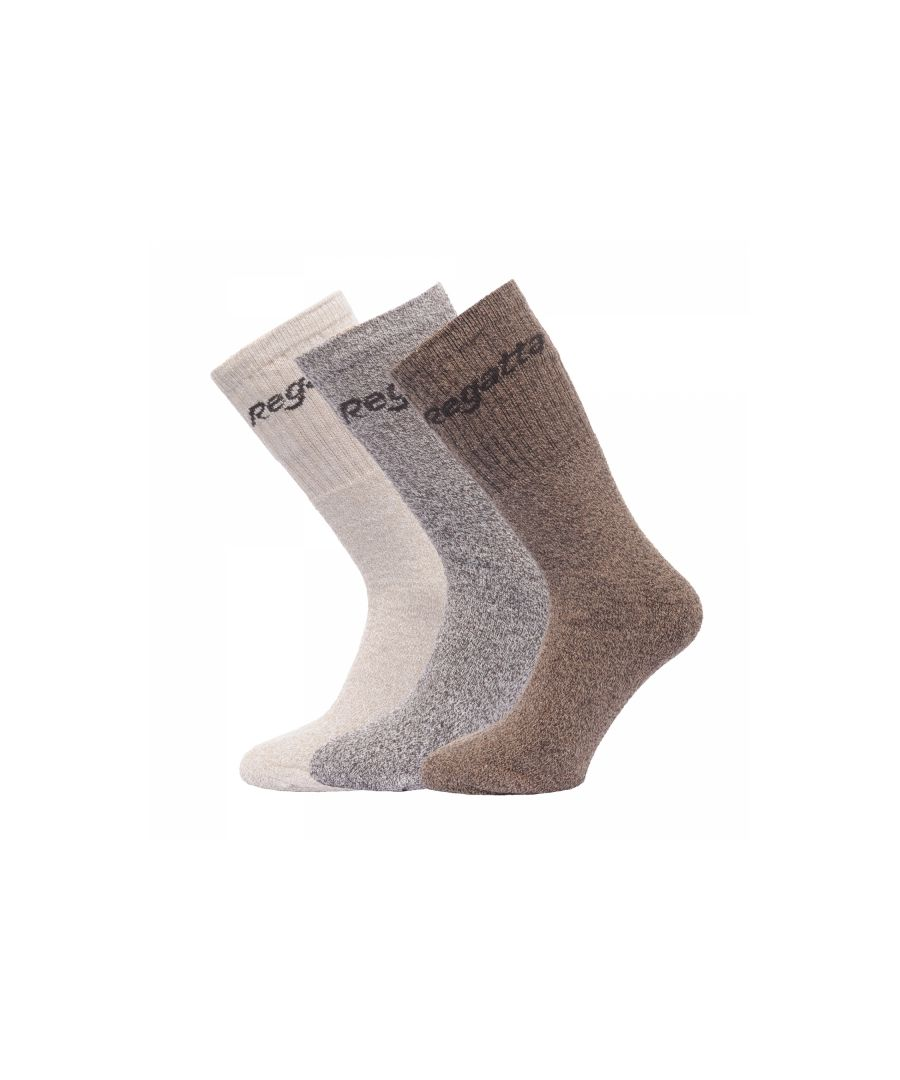 Image for Regatta Mens 3 Pack Durable Everyday Knitted Walking Socks