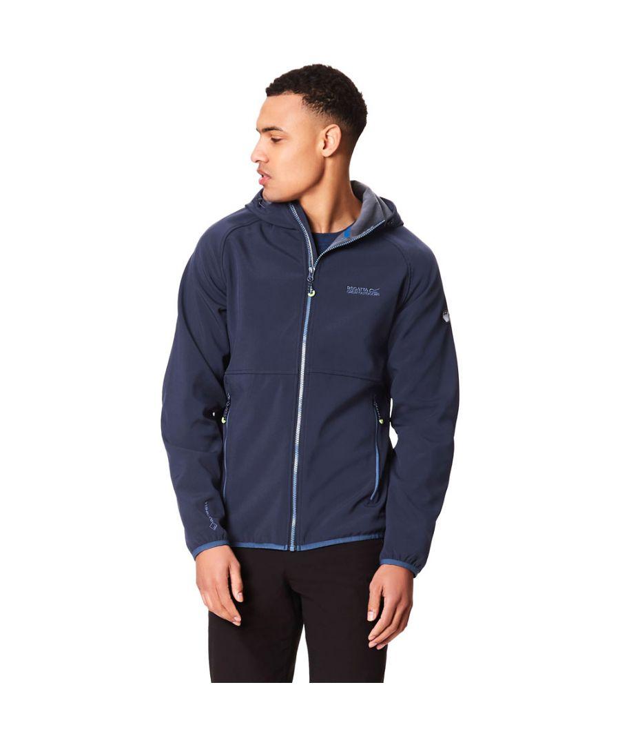 Image for Regatta Mens Arec II Warm Backed Lightweight Softshell Jacket Coat