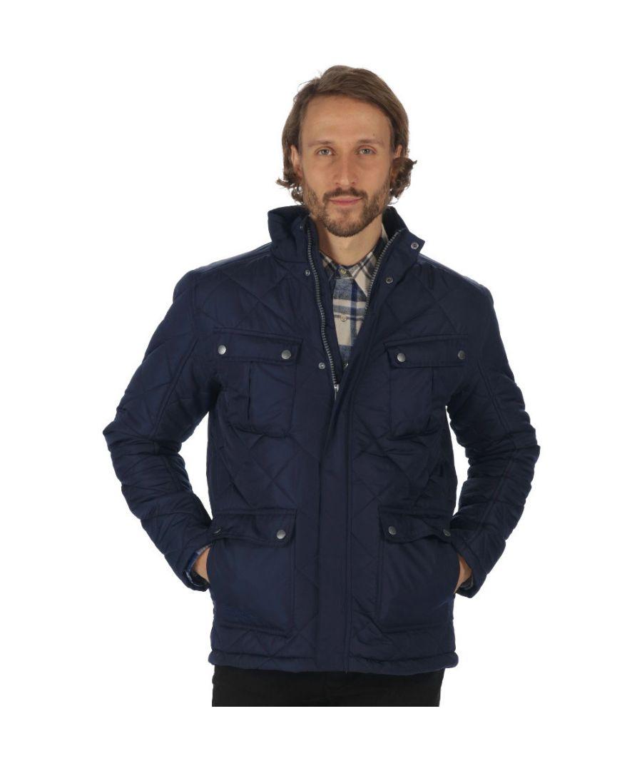 Image for Regatta Mens Lathan Water Repellant Durable Thermoguard Walking Jacket