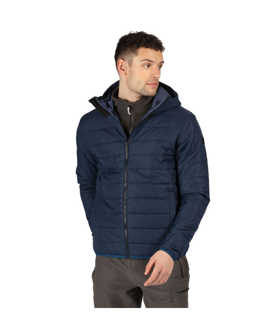 Image for Regatta Mens Helfa Insulated Warm Quilted Hooded Jacket