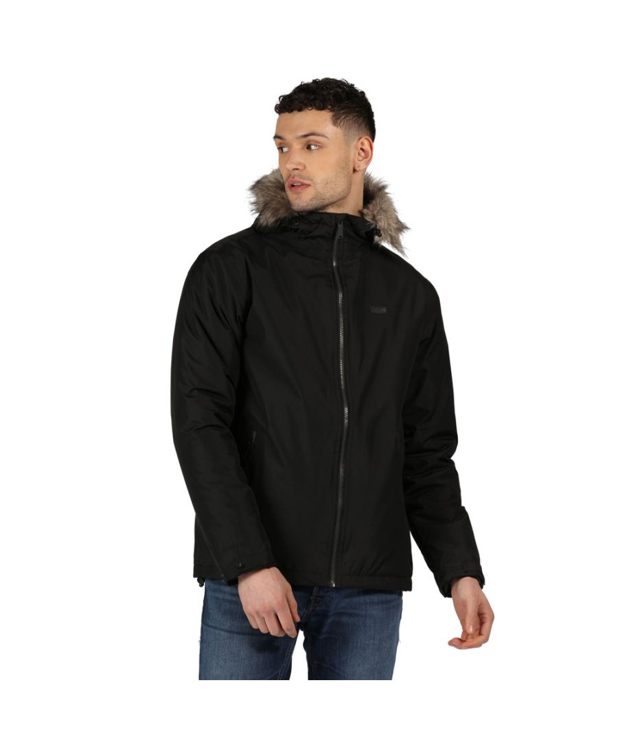 Image for Regatta Mens Haig Waterproof Insulated Hooded Parka Jacket