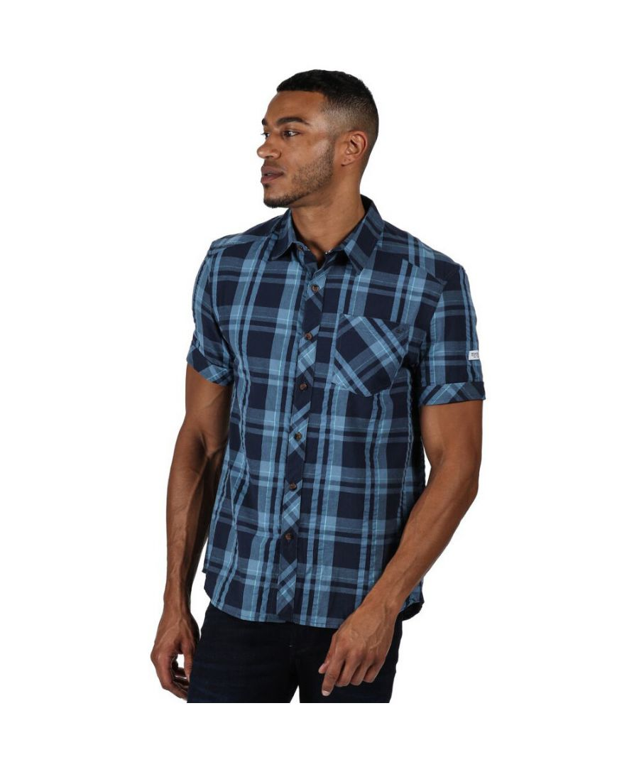Image for Regatta Mens Deakin III Check Cotton Short Sleeve Shirt