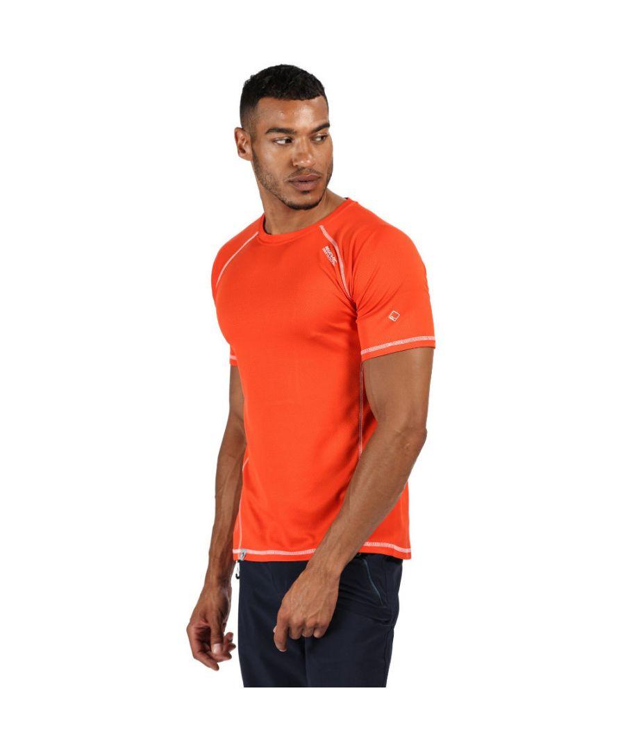 Image for Regatta Mens Virda II Quick Drying Wicking Casual Walking T Shirt