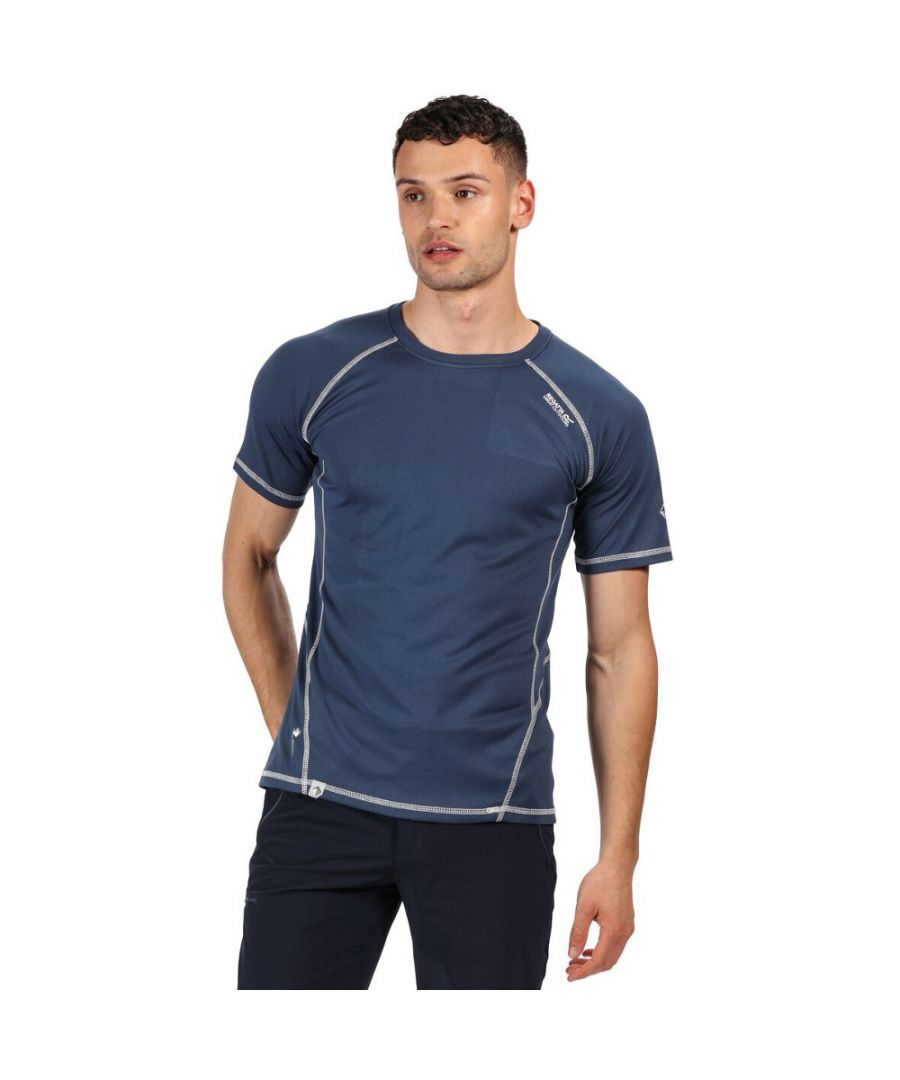 Image for Regatta Mens Virda II Quick Drying Wicking Casual Walking T Shirt