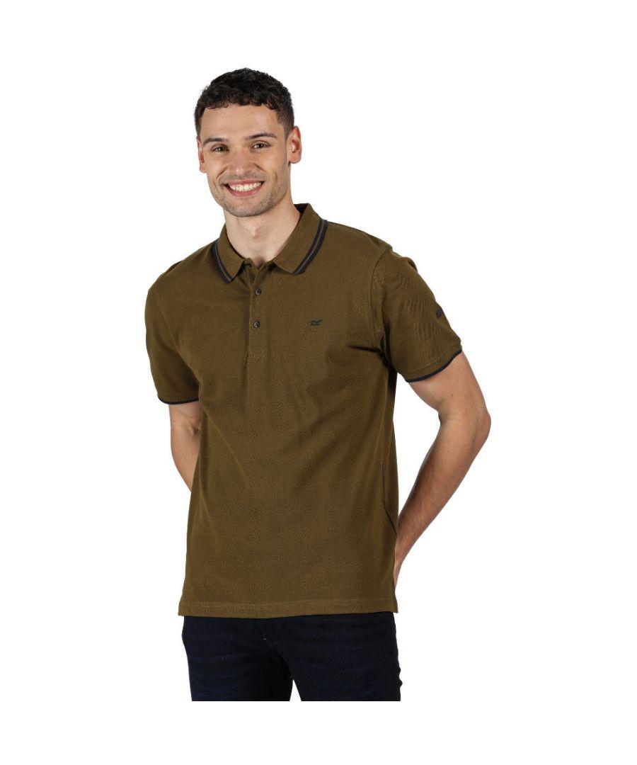 Image for Regatta Mens Talcott II Coolweave Breathable Polo Shirt