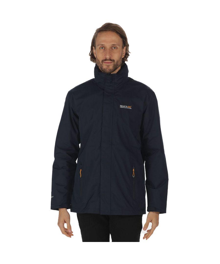 Image for Regatta Mens Matt Durable Taped Seam Hydrafort Waterproof Coat Jacket