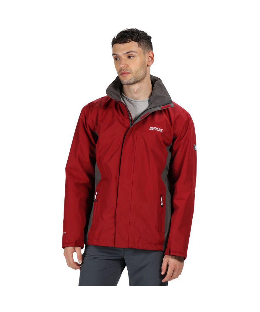 Image for Regatta Mens Matt Durable Taped Seam Hydrafort Waterproof Coat Jacket