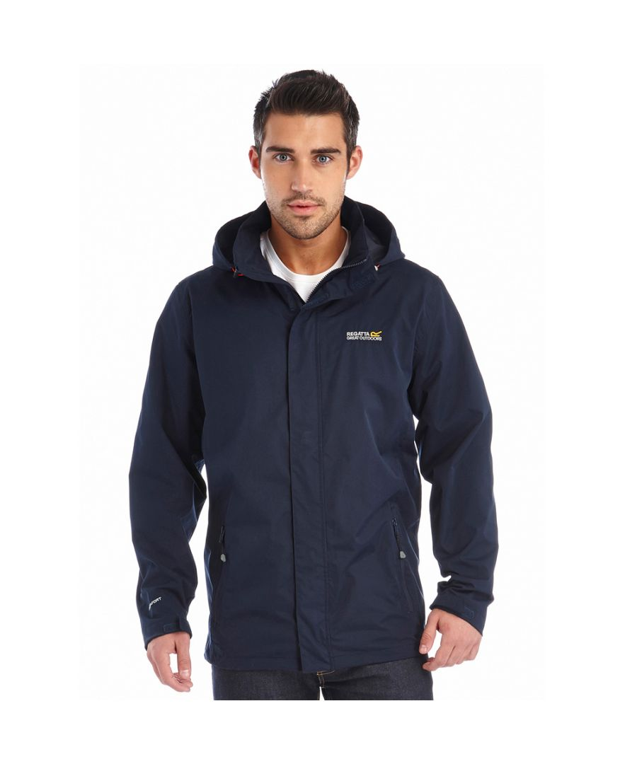 Image for Regatta Mens Matt Waterproof Hiking Walking Jacket Coat Navy