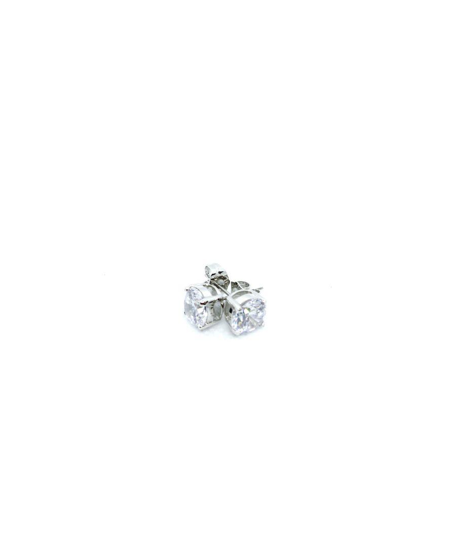 Image for Simon Carter Light Blue Round Crystal Stud Earrings