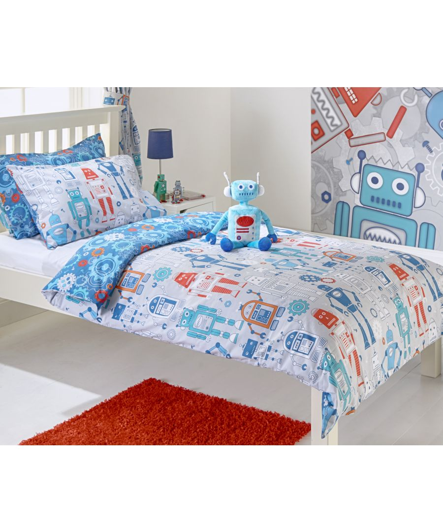 Image for Robot Toddler Duvet Set Blue