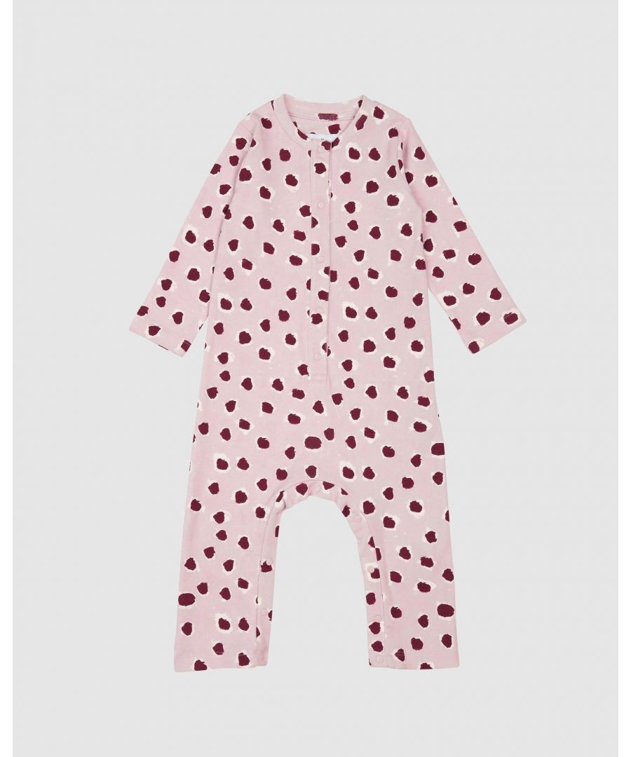 Image for Pink Painted dot Romper