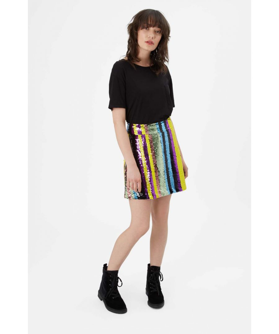 Image for Sequin Mini Skirt in Multicoloured