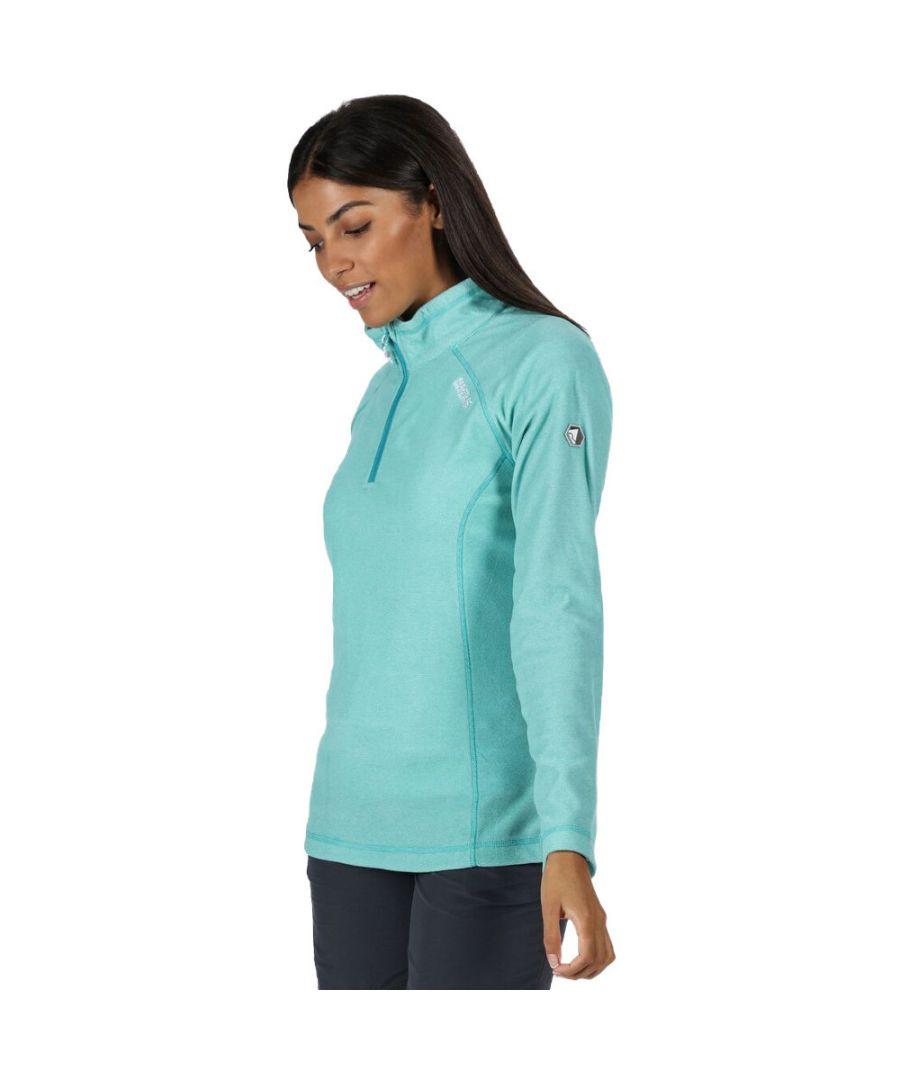 Image for Regatta Womens/Ladies Montes Half Zip Lightweight Microfleece Top
