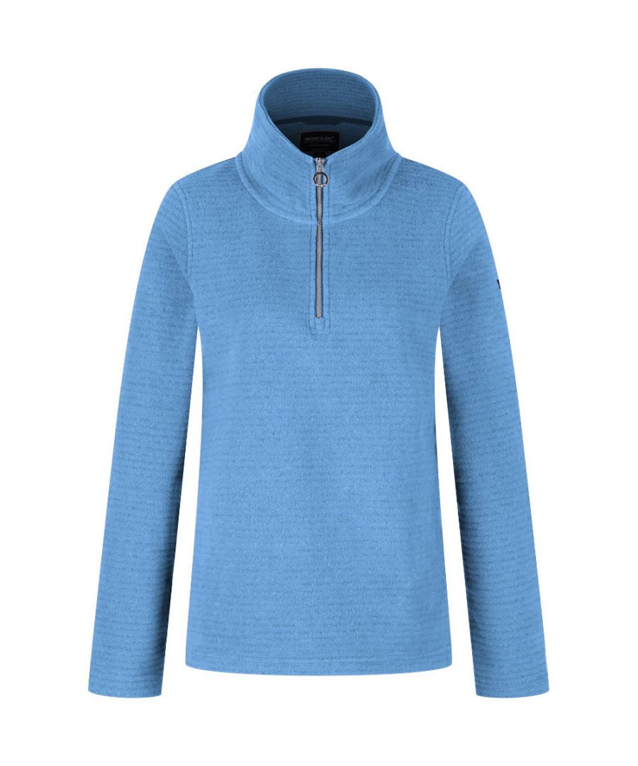 Image for Regatta Womens/Ladies Solenne 1/4 Zip Symmetry Fleece Casual Jacket