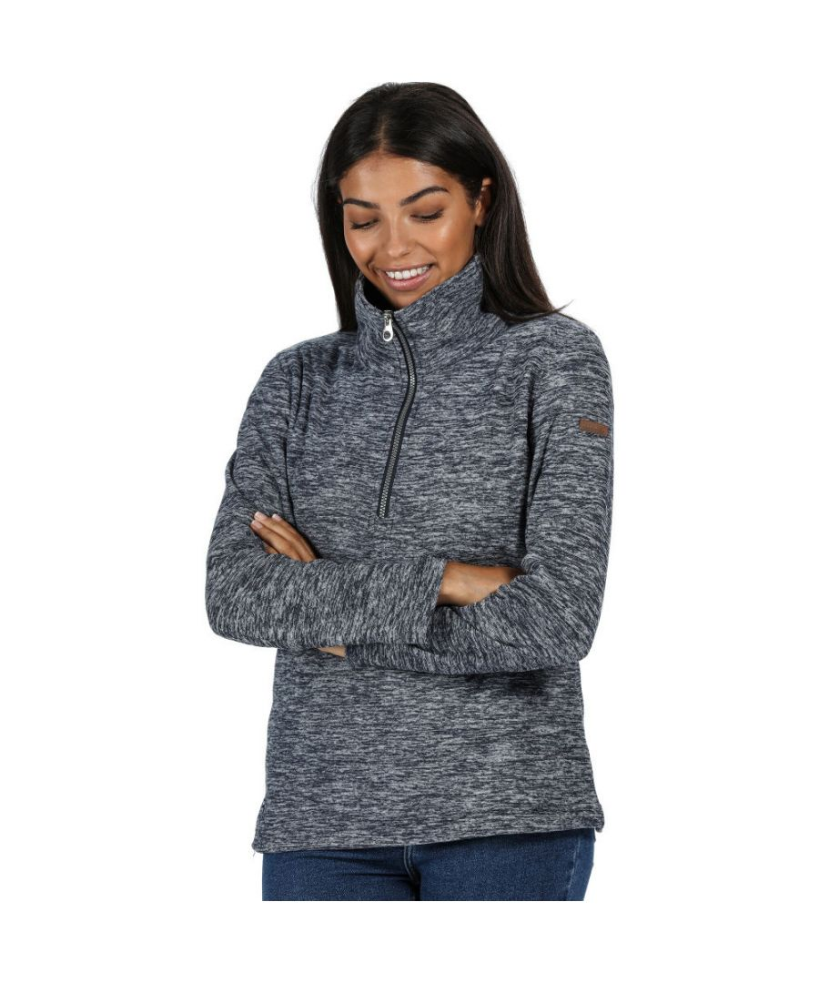 Image for Regatta Womens Fidelia Half Zip Polyester Marl Sweater