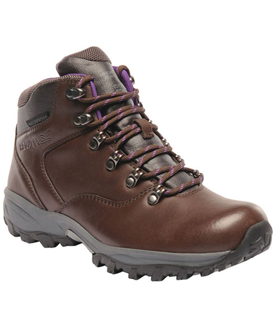 Image for Regatta Womens/Ladies Lady Bainsford Waterproof Leather Walking Boots