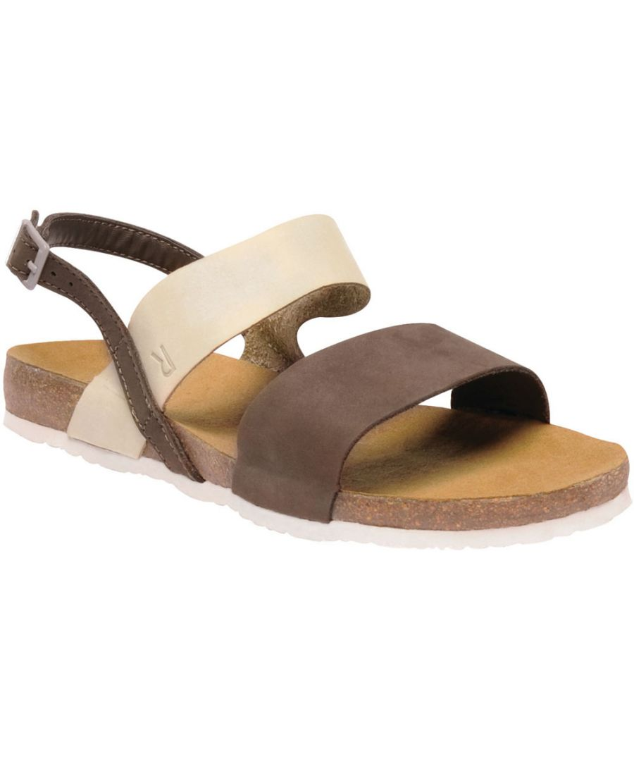 Image for Regatta Womens/Ladies Lady Jazmin Nubuck Leather Ankle Strap Sandals