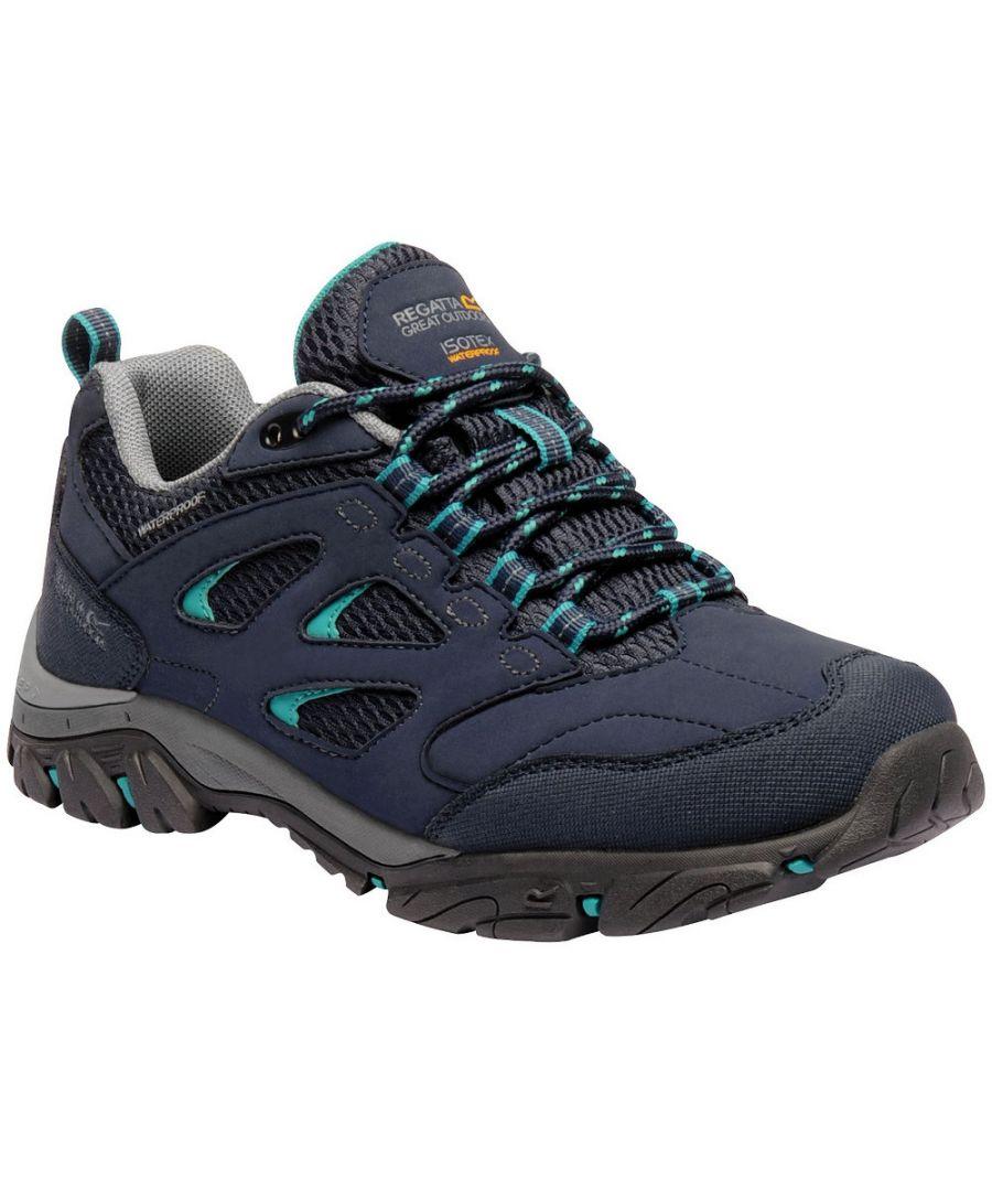 Image for Regatta Womens/Ladies Holcombe IEP Low Waterproof Fabric Walking Shoes