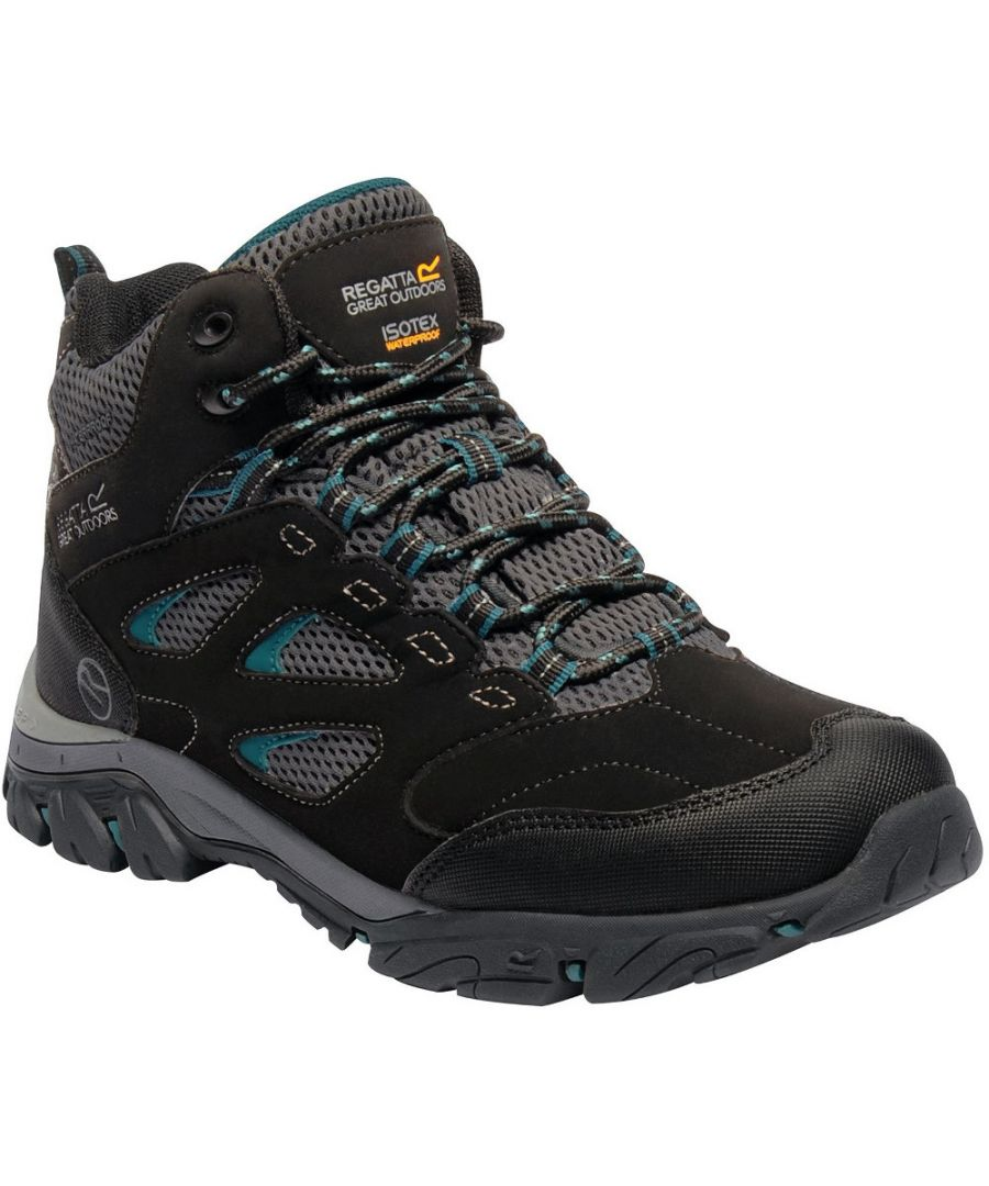 Image for Regatta Womens/Ladies Holcombe IEP Mid Waterproof Fabric Walking Boots