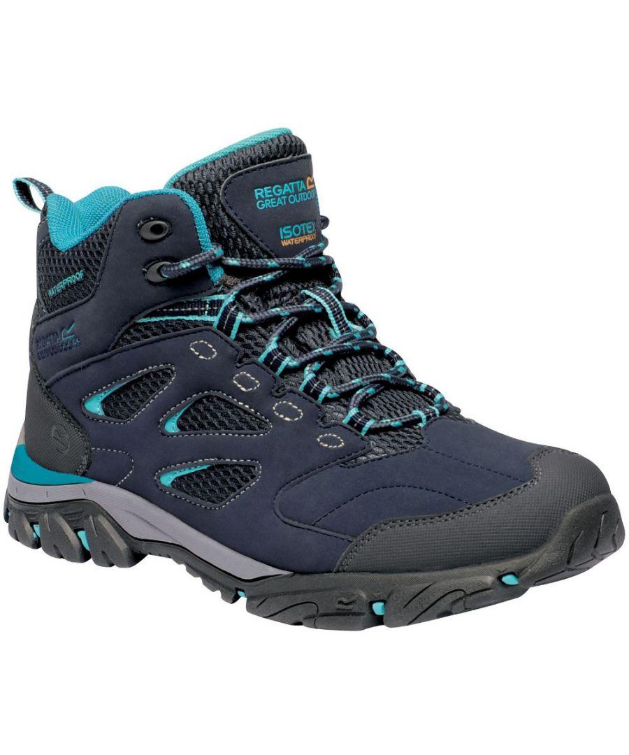 Image for Regatta Womens/Ladies Holcombe IEP Mid Waterproof Fabric Walking Boots