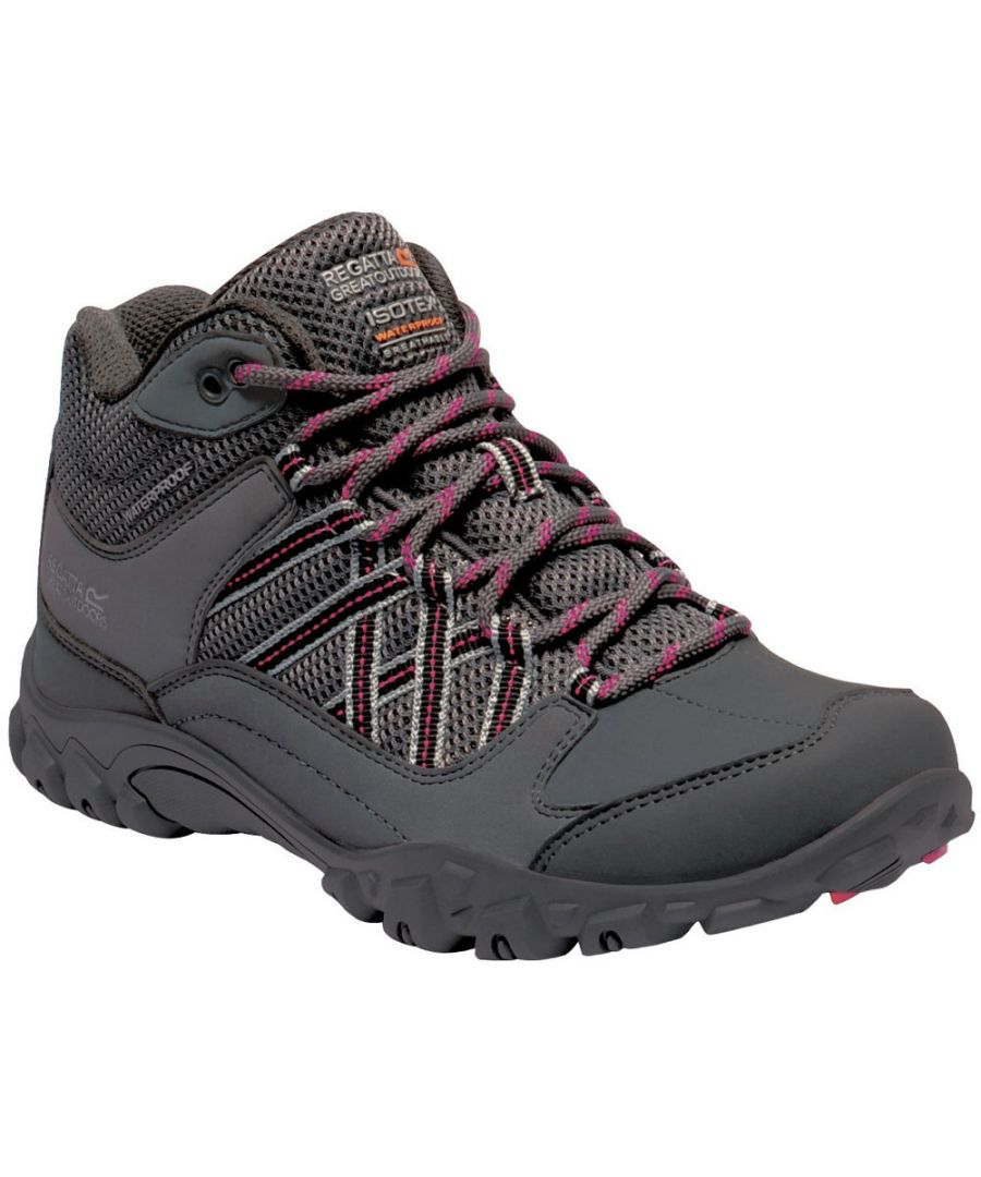 Image for Regatta Womens Edgepoint Waterproof Fabric Walking Boots
