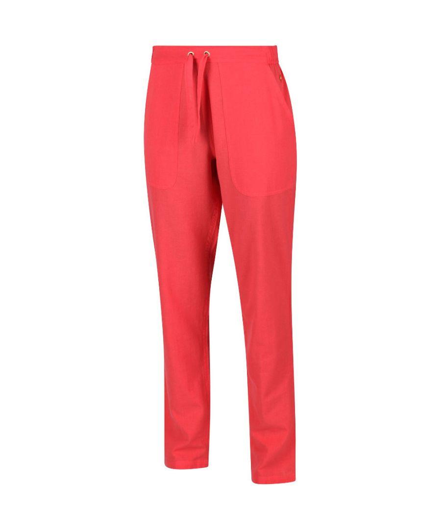 Image for Regatta Womens Quanda Coolweave Cotton Drawcord Trousers