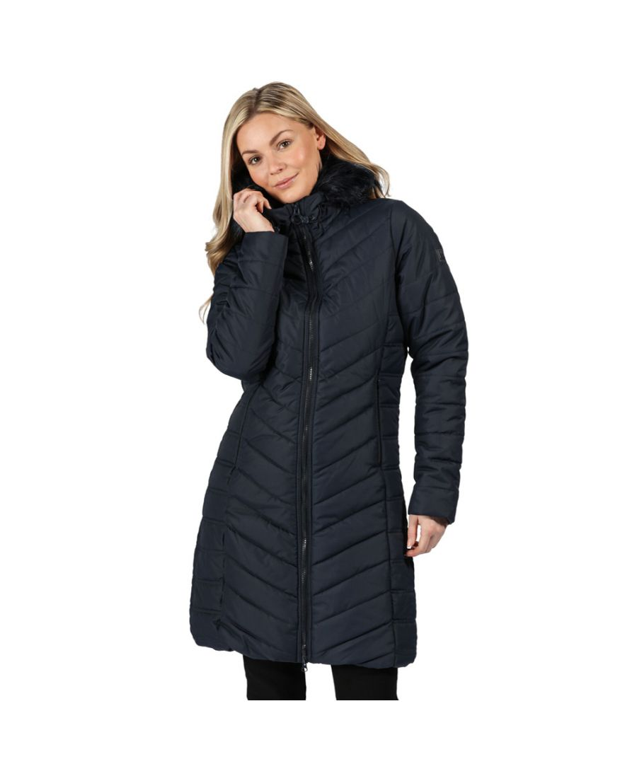 Image for Regatta Womens Fritha Insulated Quilted Parka Coat Jacket