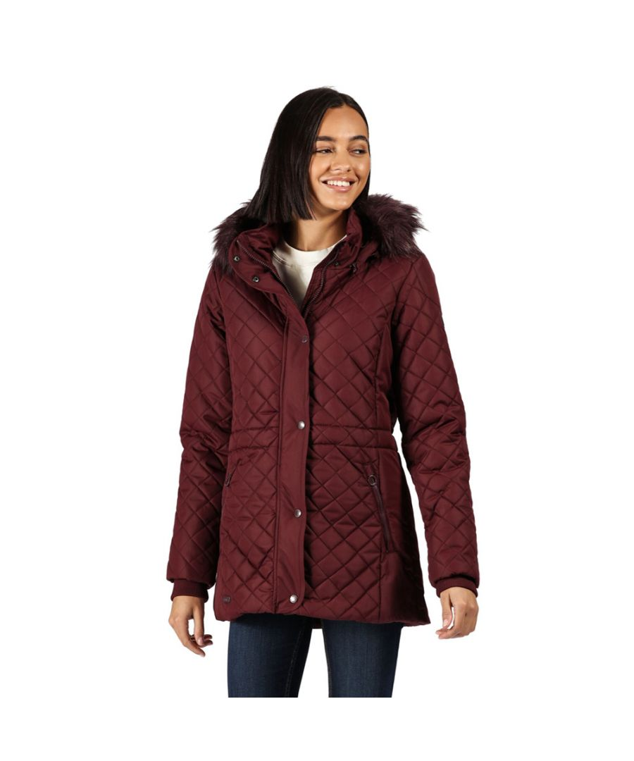 Image for Regatta Womens Zella Insulated Quilted Parka Coat Jacket