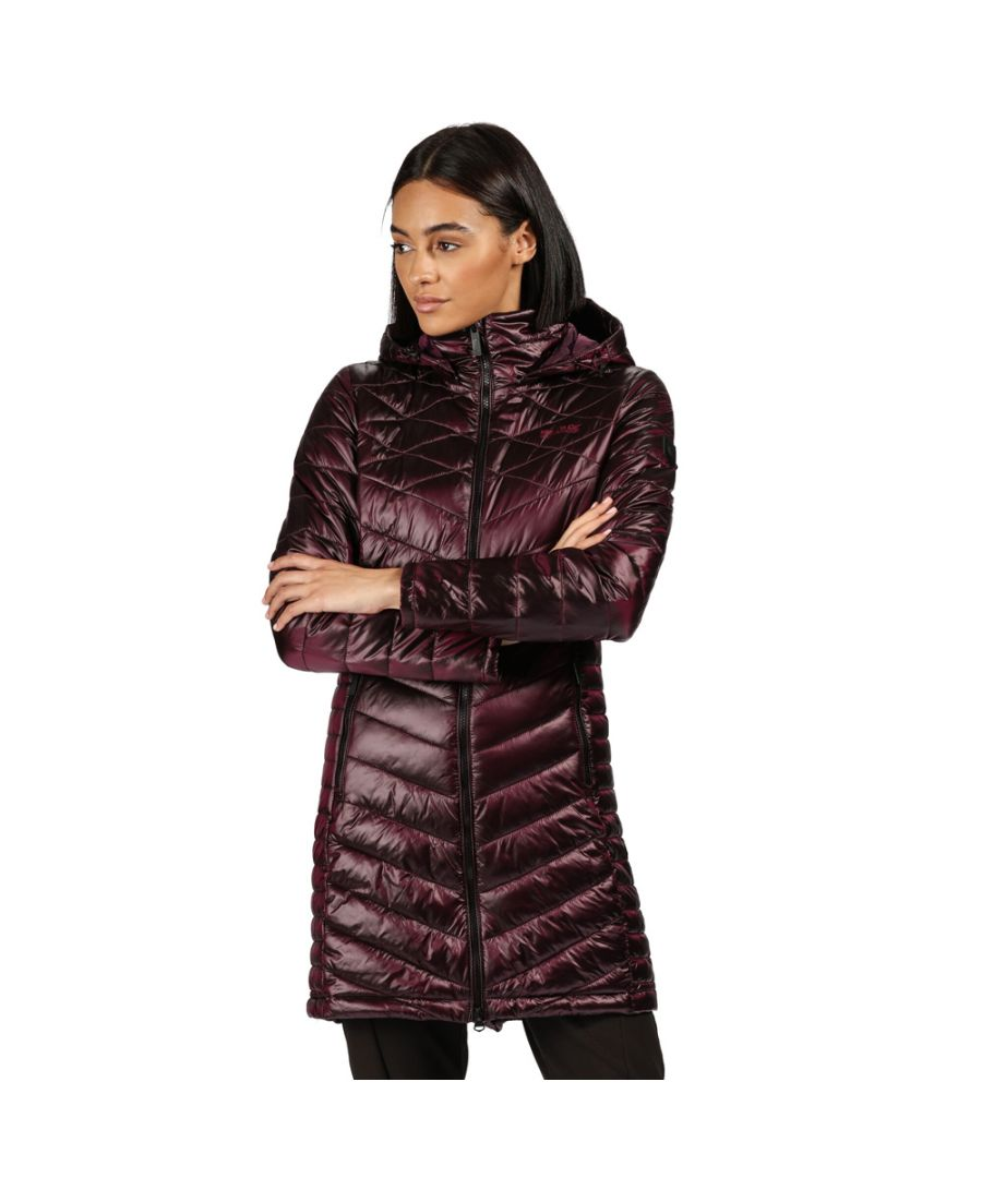 Image for Regatta Womens Andel II Long Quilted Puffa Hooded Jacket