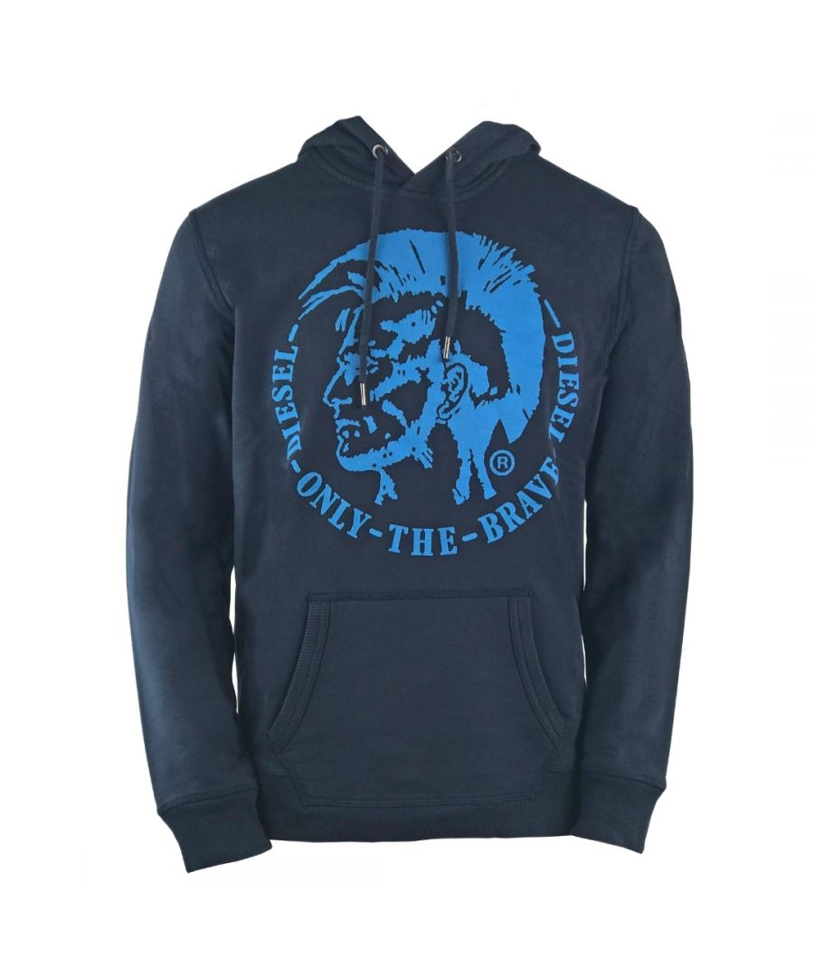 Image for Diesel S-Agnes-Patch Indian Logo Navy Hoodie