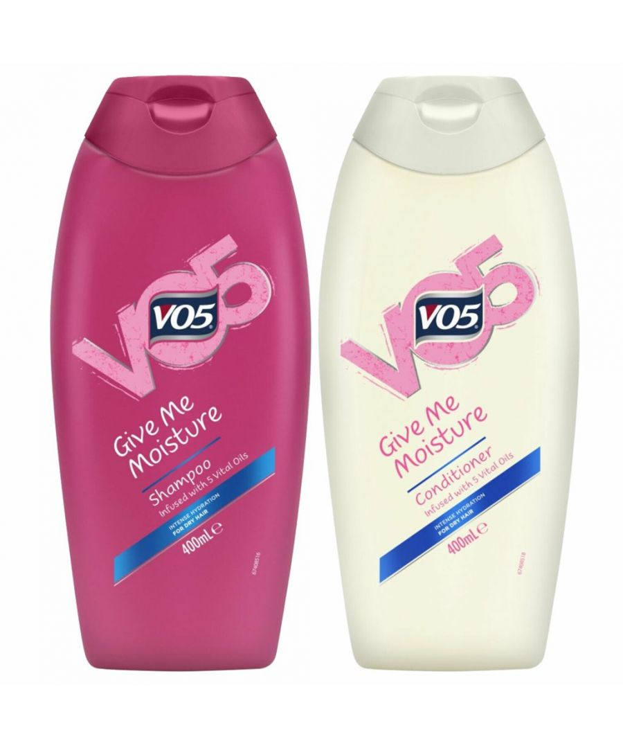 Image for VO5 Give Me Moisture Shampoo 400ml & Conditioner x 400ml