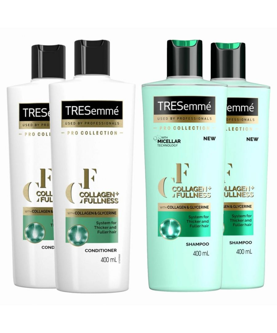 Image for TRESemme Collagen + Fullness Shampoo Pack of 2 & Conditioner Pack of 2, 400ml