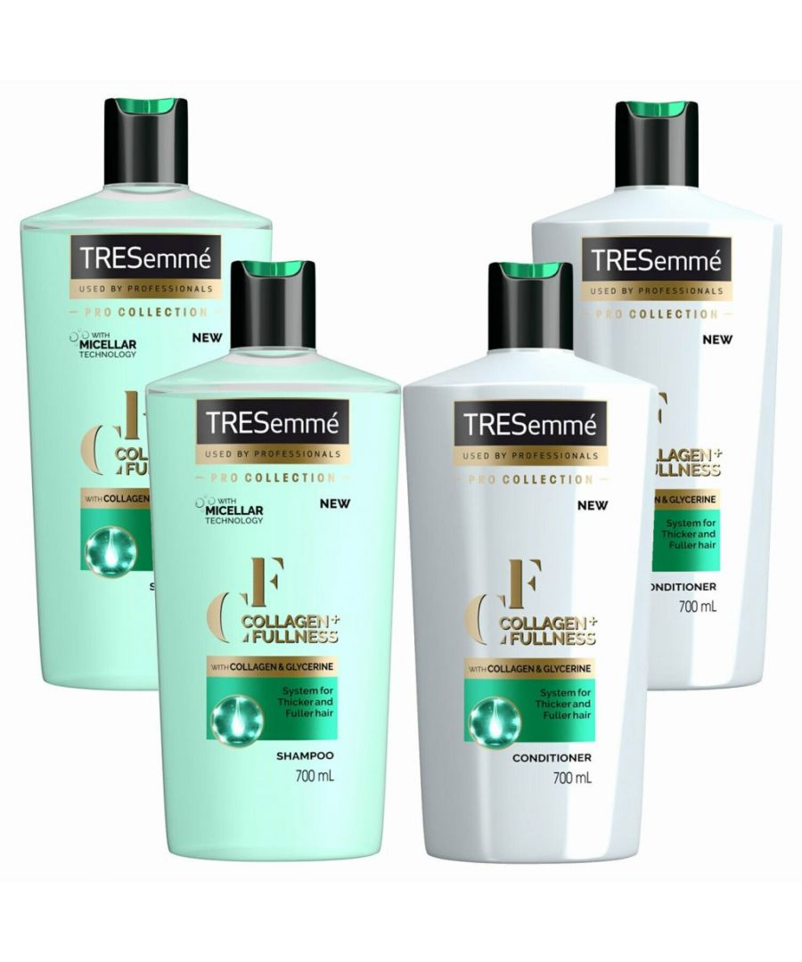 Image for TRESemme Collagen + Fullness Shampoo Pack of 2 & Conditioner Pack of 2, 700ml