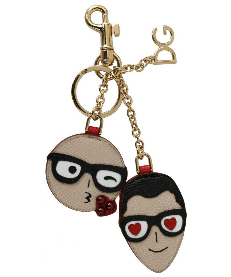 Image for Dolce & Gabbana Leather Dominico Stefano #DGFAMILY Keychain