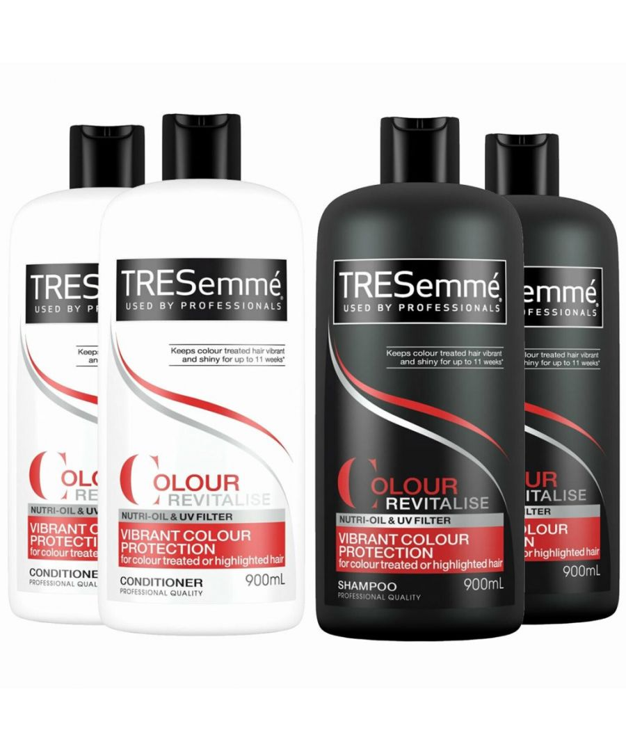 Image for TRESemme Colour Revitalise Protection Shampoo Pack of 2 & Conditioner Pack of 2, 900ml